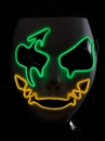 Hit the season! Party light mask EL MASK KOBOLD two-color electro luminescent hose