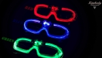 Party glasses LED Discobrille 3 program  activated red green blue