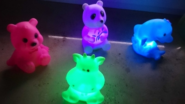 LED color changing figurine color changing multicolor color change Baerchen Hippo delfin