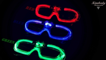 Laser LED Party Brille Disco SPACE Partybrille ROT Grün Blau 3 Programme