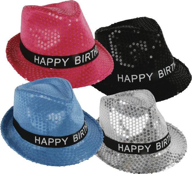 Trilby hat pink glitter