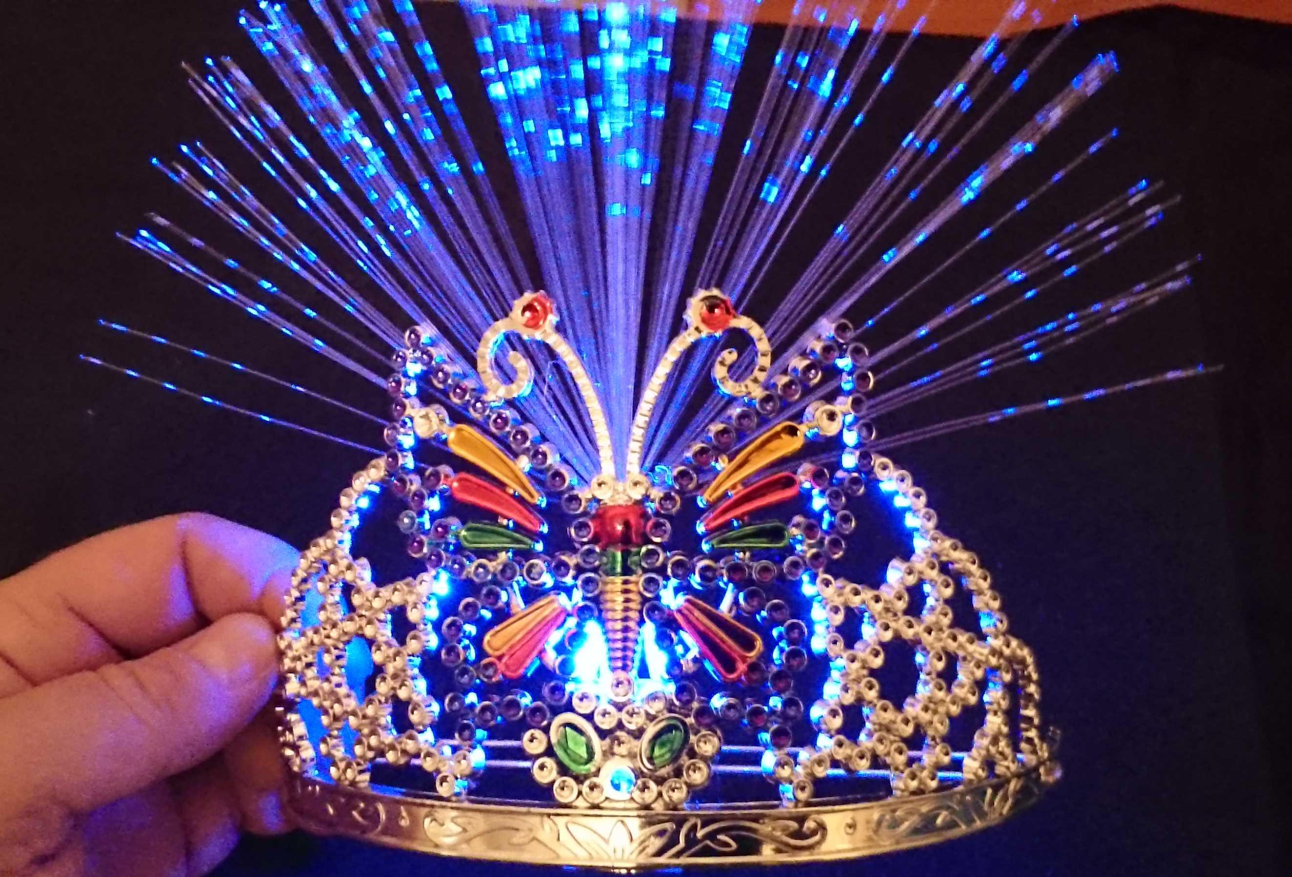 Leds Blink De Led Krone Diadem Schmetterling Prinzessin