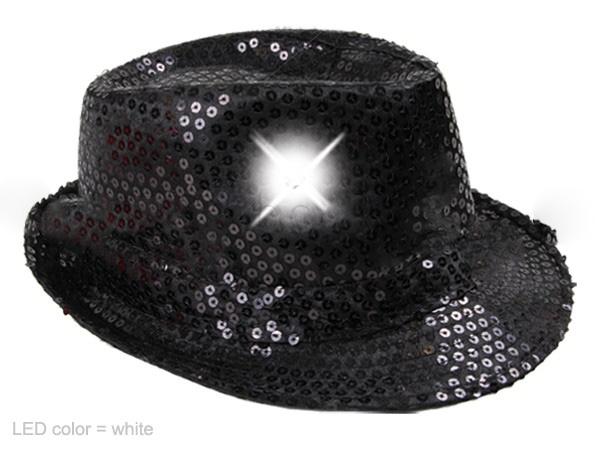 HEETEY Blinkende LED leuchtet Bunte Pailletten Unisex Kost/üm Dance Party Hut LED-Baseballm/ütze